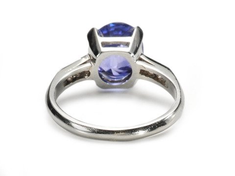 No Heat Natural Sapphire & Diamond Ring