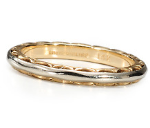 Eye Catching Two Tone Gold Wedding Ring