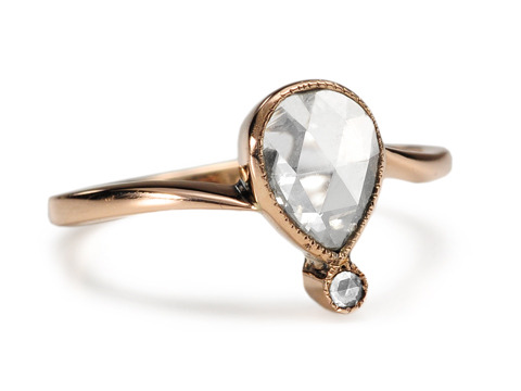 Edwardian Fruit: Pear Diamond Ring