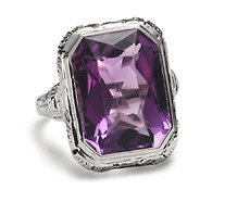 Art Deco Royal Amethyst Ring