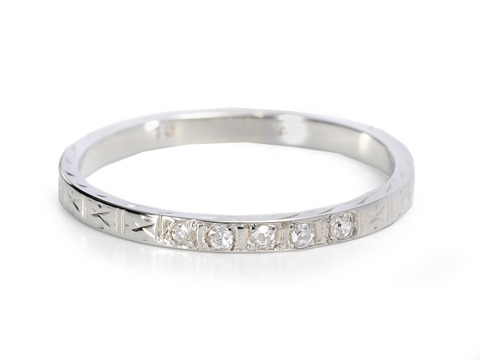 Diamond Set Half Eternity Band