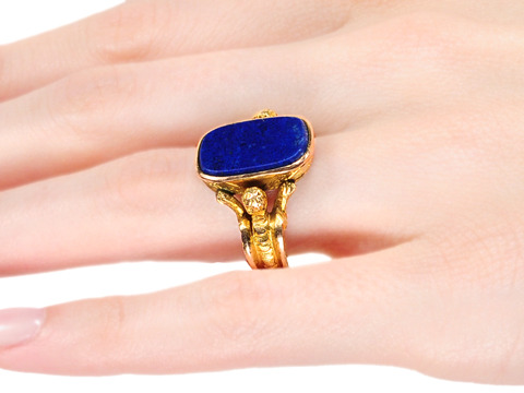 Renaissance Revival in a Lapis Ring