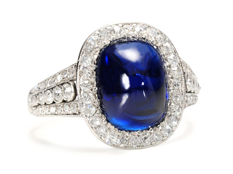 Exquisite No Heat Sapphire Diamond Ring
