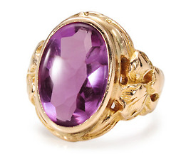 Art Nouveau Exotica in an Amethyst Ring