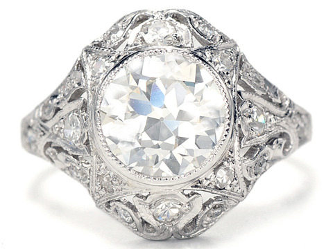 Light Your Way: 2.04 c Diamond Platinum Ring