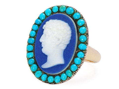 Very Scarce 18th C. Wedgewood Cameo Ring