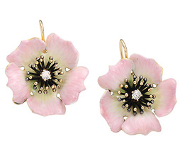 Enamel Beauties: Antique Diamond Earrings