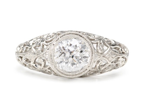 Lace & Light: Solitaire .95 ct Diamond Ring