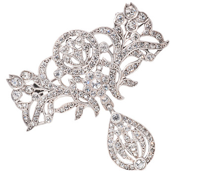 Shimmering French Antique Silver Brooch