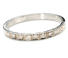 Art Deco Half Eternity Band of Diamonds