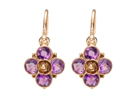 Taste the Wine: Antique Day Night Amethyst Earrings