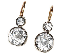 Victorian Rock Crystal Earrings