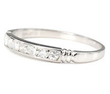 Oh So Bright Diamond Platinum Eternity Band