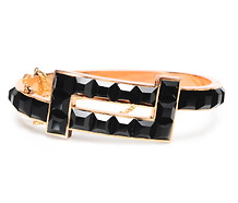 Striking Victorian Onyx Bracelet