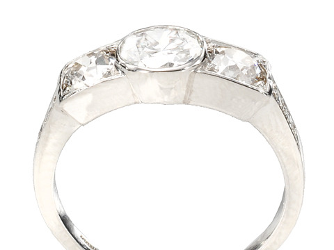All Aglow: Art Deco Diamond Platinum Ring