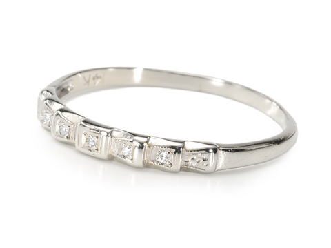 Stair Step Diamond Half Eternity Band