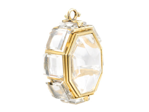 17th Century Rock Crystal Reliquary Pendant