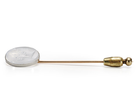 Moonstone Romance in a Stick Pin