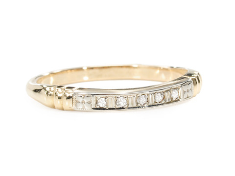 Art Deco Diamond Set Wedding Ring