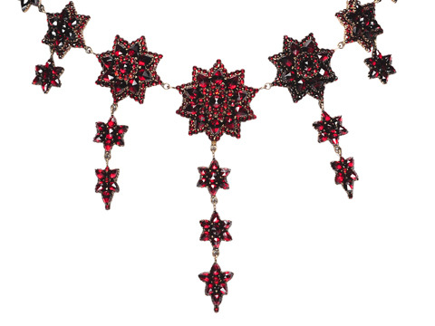 Sonata in a Bohemian Garnet Necklace