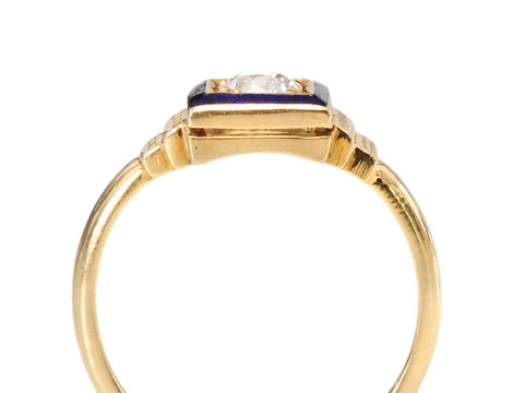 Tailored Diamond & Enamel Ring