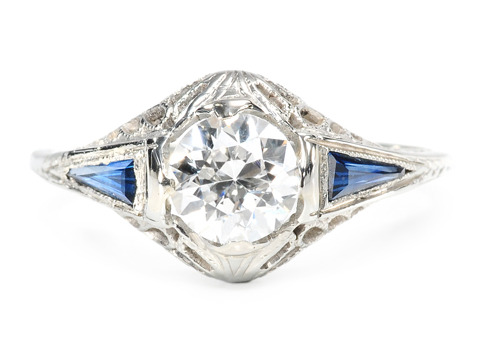 Geometrics in an Art Deco Diamond Ring