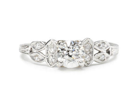 Dynamic Platinum Diamond Ring