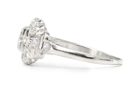 American Art Deco Diamond Engagement Ring