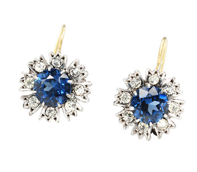 Edwardian Sparkle in a Paste Earrings