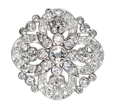 Victorian Beauty in a Diamond Pendant