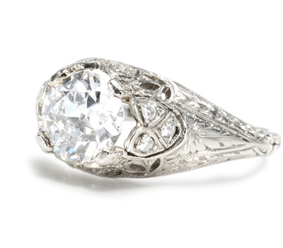 Breathless: Edwardian E Color Diamond Ring