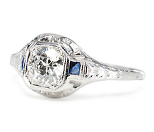 Rarified Air - Antique Diamond Sapphire Ring