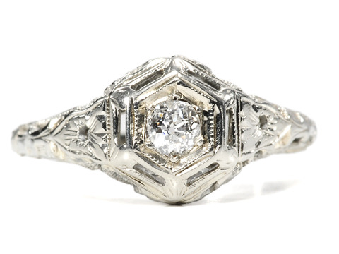 Picture Perfect Art Deco Diamond Ring