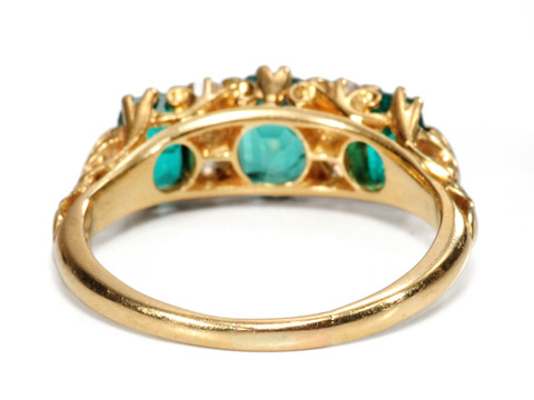 Edwardian Green: Emerald Diamond Ring