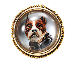 Victorian Dog Essex Crystal Pendant