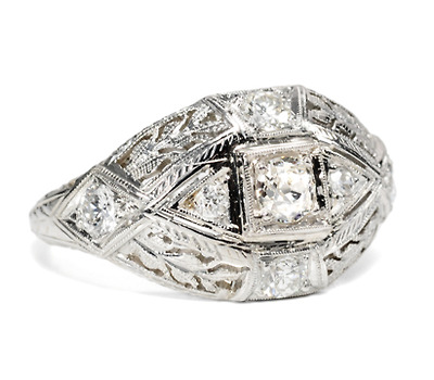 A Kiss: Diamond Set Ring
