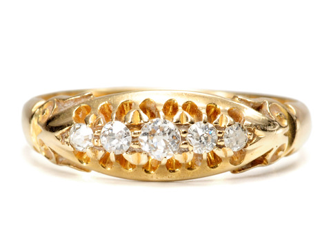 Edwardian Quintet: Five of Diamonds Ring
