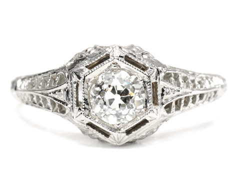 Sweet Solitaire Diamond Ring