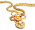 Sinuous Antique Gemstone Snake Necklace