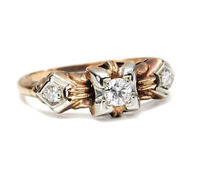 1930s Flirt: Two Tone Diamond Ring