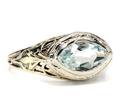 Nature in an Aquamarine Ring