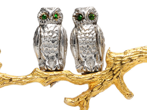 Garrard Wise Owls Brooch