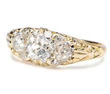 Victorian Perfecta in a Diamond Ring