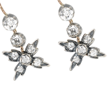 Victorian Old Cut Diamond Earrings