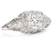 Edwardian Sigh: 1.15 ct Diamond Platinum Ring