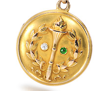 Torch of Love: Edwardian Locket Pendant