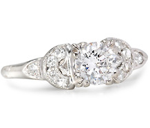 Mid Century Phenom: Diamond Platinum Ring
