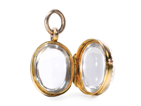 Edwardian Memories: Rock Crystal Locket Pendant