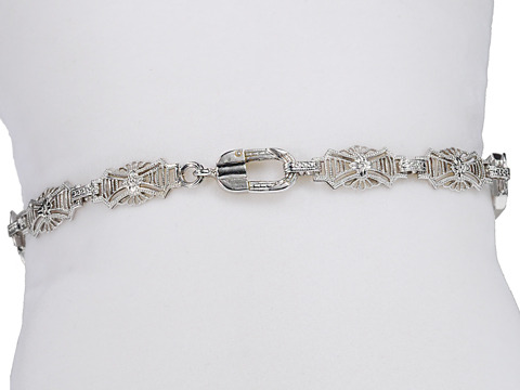 Delicate Art Deco Frosted Rock Crystal Gold Bracelet