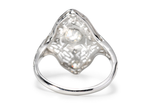 Flattering Art Deco Diamond Ring